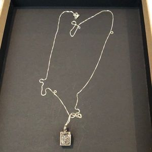 Sterling silver necklace with intention box.